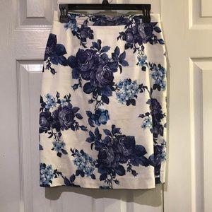 Cremieux Floral print pencil skirt